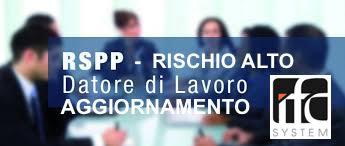 corso aggiornamento rspp rischio alto online